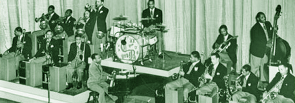 The Count Basie Orchestra about 1938.